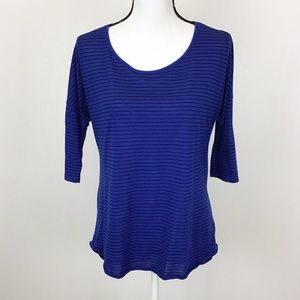 American Eagle Small Blue Striped Jegging Tee